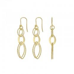 Boucles d'oreilles en argent 925/1000 doré diamantés