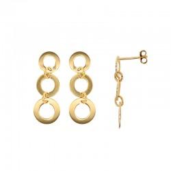 Boucles d'oreilles 3 cercles en plaqué or
