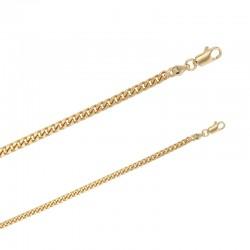 Bracelet maille gourmette en Plaqué or