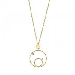 Collier en argent 925/1000 doré avec 2 cercles