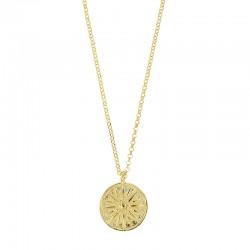Collier en argent 925/1000 doré avec pendentif soleil