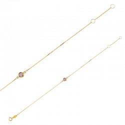 Bracelet Or 18 carats avec du quartz