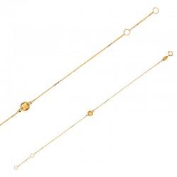 Bracelet Or 18 carats avec du quartz jaune en forme coussin