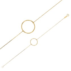 Bracelet en Or 18 carats avec un cercle