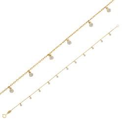 Bracelet Or 18 carats avec pampilles