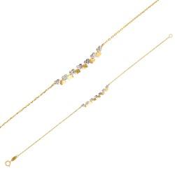 Bracelet Or 18 carats avec de petits cœurs bicolores