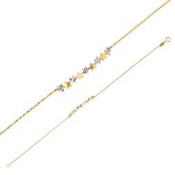 Bracelet Or 18 carats avec de petites étoiles bicolores