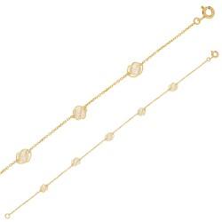 Bracelet Or 18 carats maille forçat