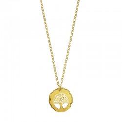 Collier arbre de vie en argent 925/1000 doré