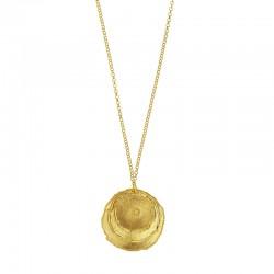 Collier effet brossé en argent 925/1000 doré