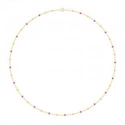 Collier Or 18 carats avec des perles rose