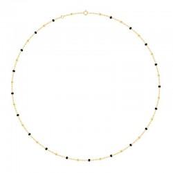 Collier Or 18 carats avec des perles noire