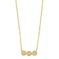 Collier Or 18 carats avec 3 diamants