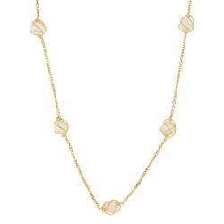 Collier Or 18 carats avec 5 perles en cage