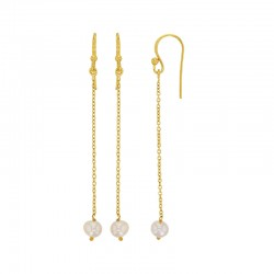 Boucles d'oreilles en argent 925/1000 doré avec perle