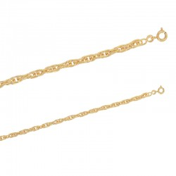 Chaîne de cou maille corde en plaqué or.