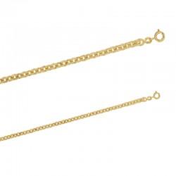 Bracelet maille forçat soleil en plaqué or.