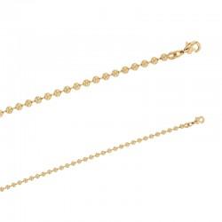 Bracelet maille lisse avec boules en plaqué or.