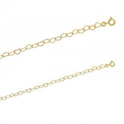 Bracelet maille cœur en plaqué or.