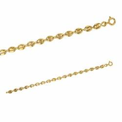 Bracelet maille grain de café en plaqué or