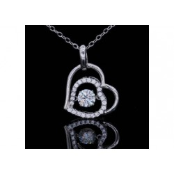 pendentif en forme de coeur en moissanite