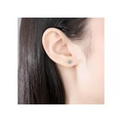 Boucles d'oreilles en moissanite et argent 925/1000
