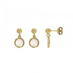 Boucles d'oreilles MADRE PERLA en argent 925/1000 doré avec un nacre en forme ronde